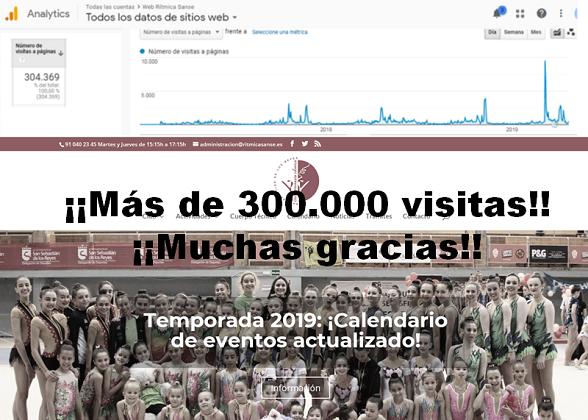 ¡¡Más de 300.000 visitas!! ¡¡Muchas gracias!!