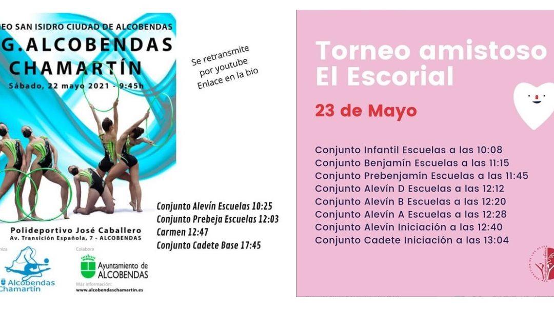 Este finde vamos al Torneo San Isidro Alcobendas y a El Escorial